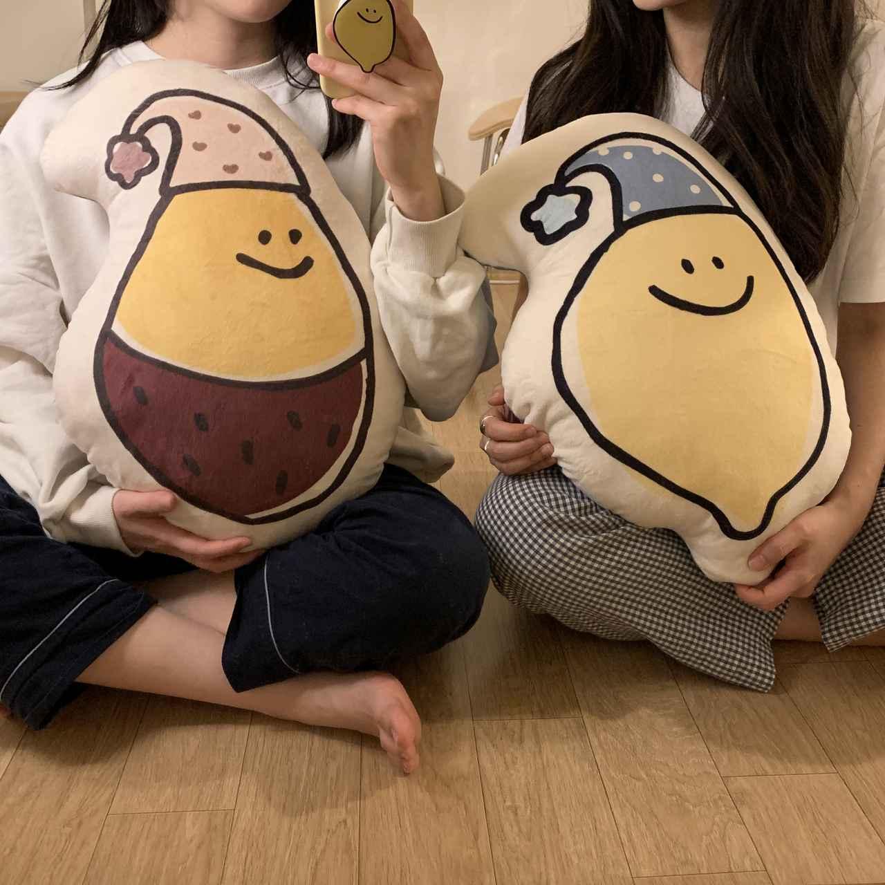 画像: with moim レモニ&コグミ もっちりクッション(税込2,970円)