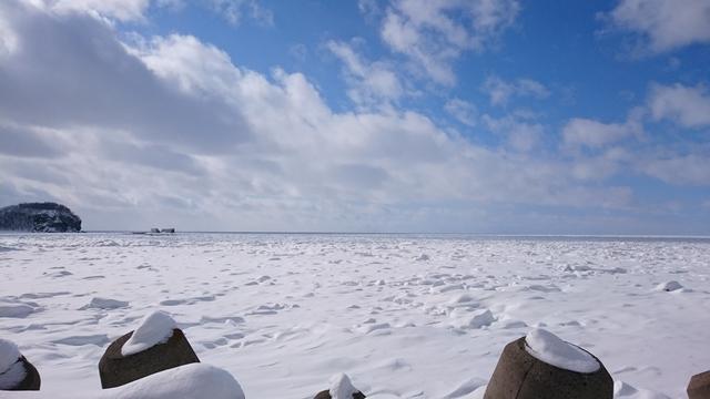 画像: 知床の海です・・・真っ白!!