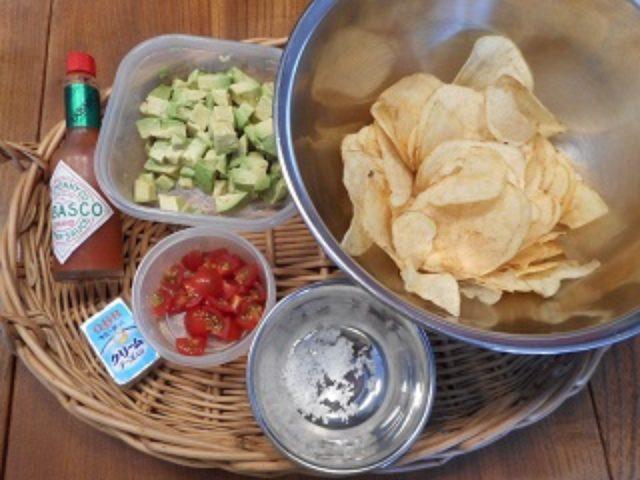画像1: ポテチとチーズのメキシコ風サラダ
