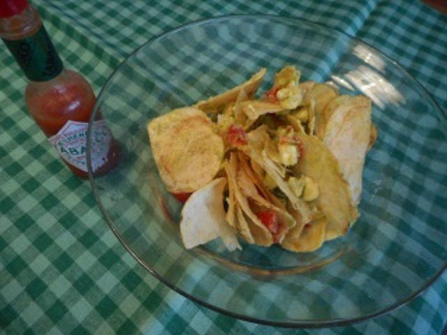 画像4: ポテチとチーズのメキシコ風サラダ