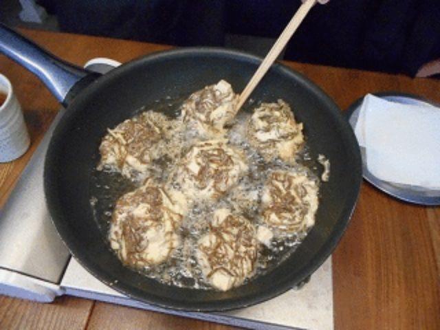 画像4: もずくとチーズの揚げ焼き