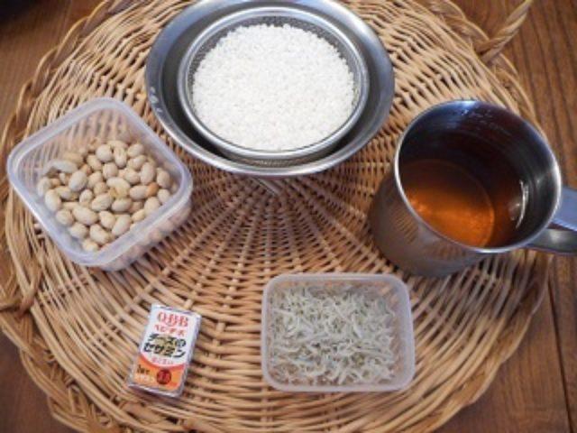 画像1: ちりめんじゃこと煎り大豆のチーズ炊き込みご飯