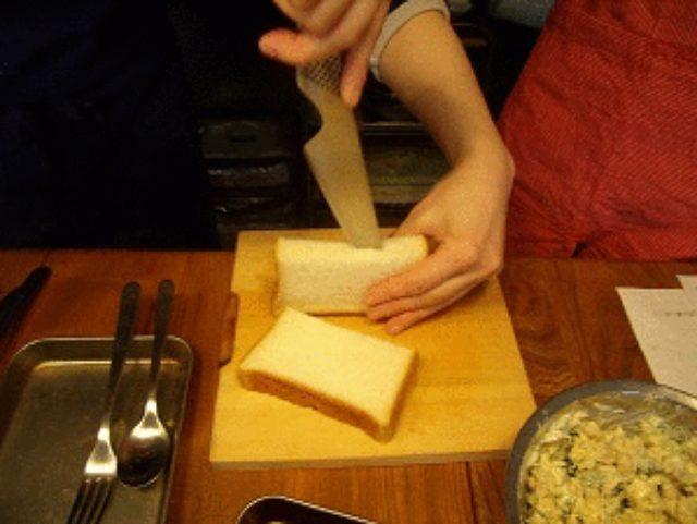 画像3: 普通の食パンをピタパンに!お豆さんサラダのサンドイッチ