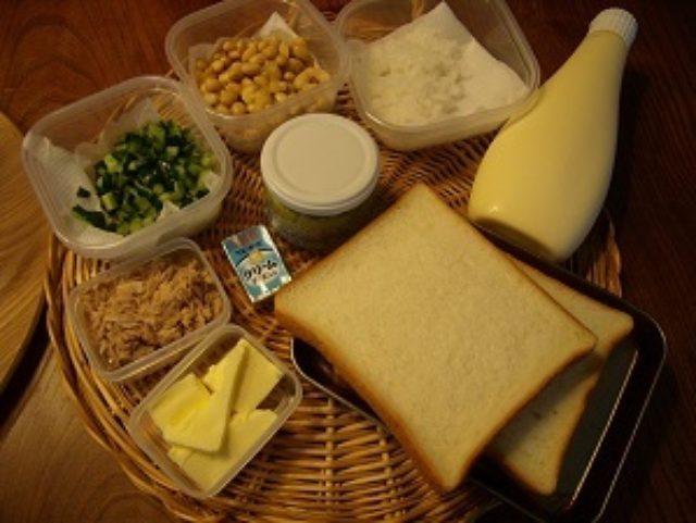 画像1: 普通の食パンをピタパンに!お豆さんサラダのサンドイッチ