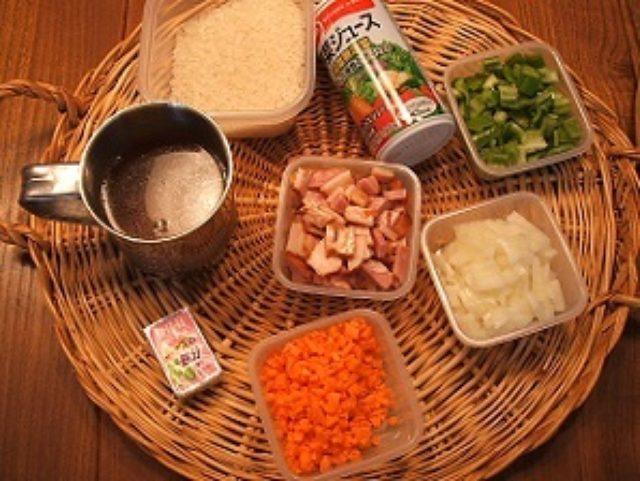 画像1: 野菜ジュースとチーズで栄養満点炊き込みご飯