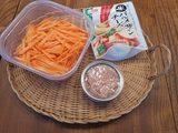 画像1: にんじんとツナの炒め物