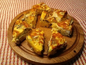 画像10: 山菜のスペイン風チーズオムレツ
