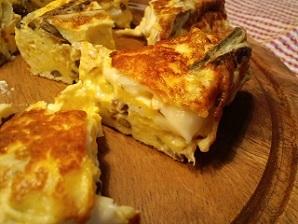 画像11: 山菜のスペイン風チーズオムレツ