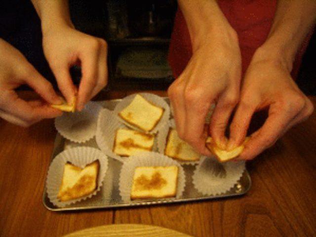 画像4: 簡単お手軽 パンをつぶして! トースターでパンキッシュ