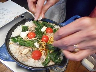 画像4: パエリア風チーズ入り 炊き込みご飯
