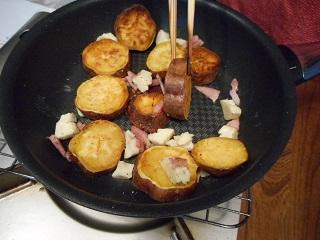 画像5: さつまいものソテー ゴルゴンチーズかけ