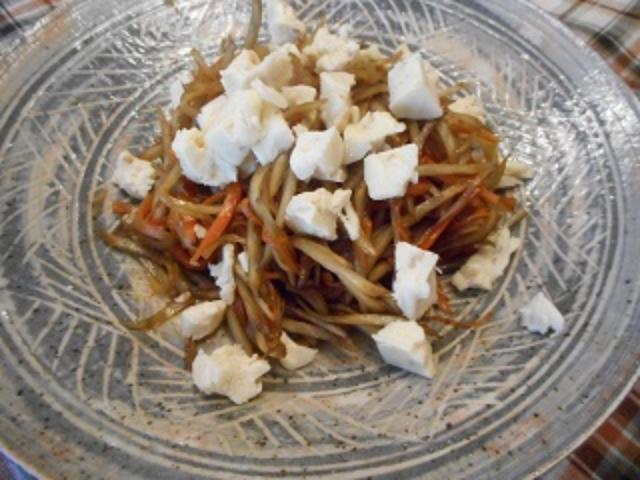 画像6: メープルシロップのきんぴらごぼう チーズかけ