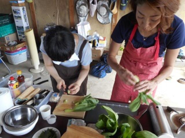 画像1: 青梗菜とチーズのご飯