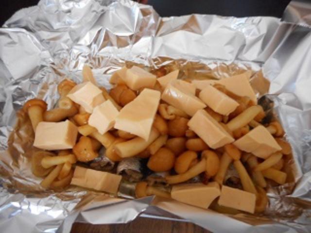 画像2: なめことオイルサーディーンとチーズのホイル焼き