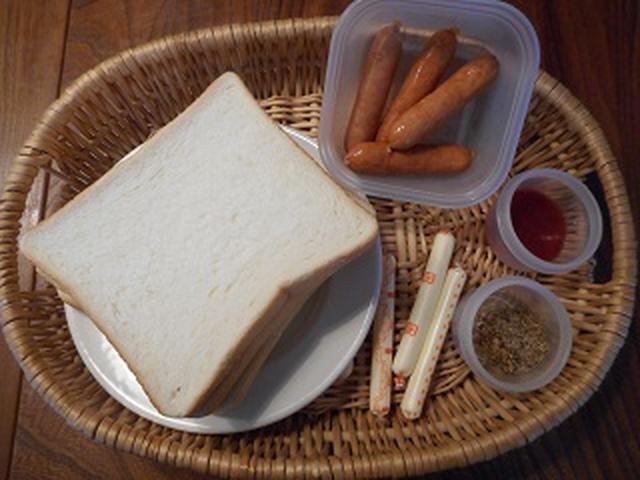画像1: 食パンでアメリカンドッグ