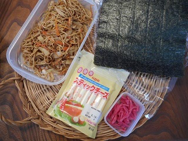 画像1: お寿司だけが海苔巻きじゃない!焼きそば海苔巻