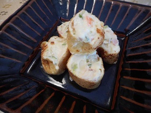 画像8: チーズポテサラの油揚げ巻き