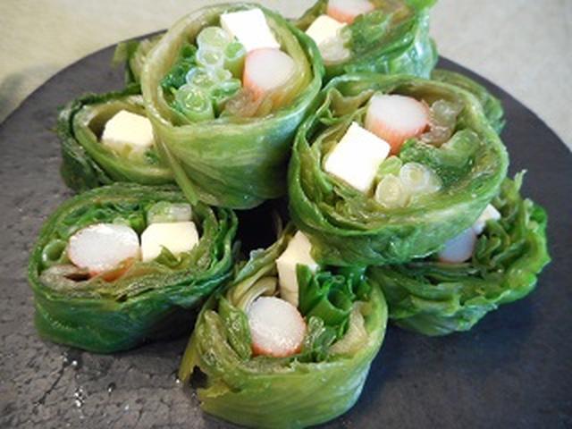 画像4: チーズ入り巻き巻きサラダ