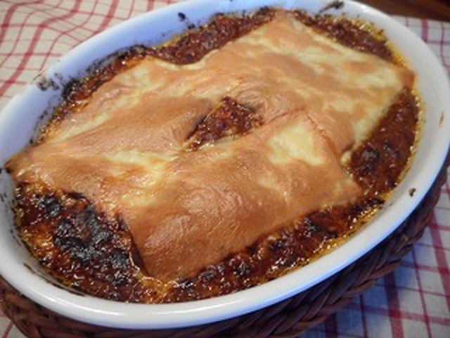 画像4: 餃子の皮で簡単ラザニア