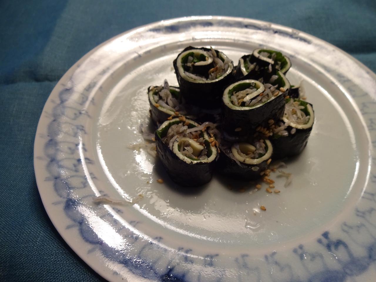 画像4: シラスとチーズの海苔巻