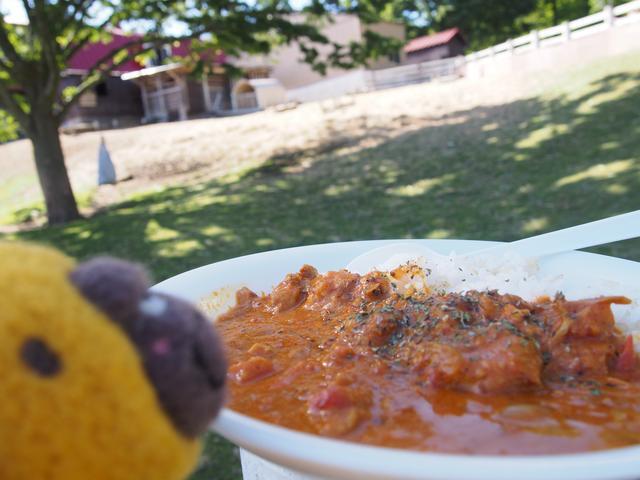 画像: おいしいお料理もたくさん!大森さんは、カレーに舌鼓を打ちました。