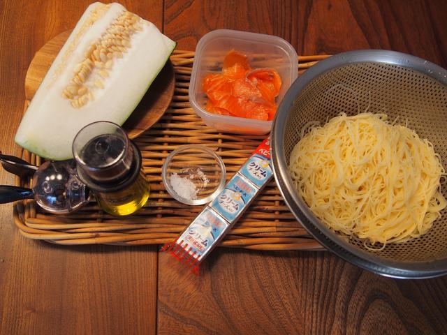 画像1: 冬瓜とチーズの冷製パスタ