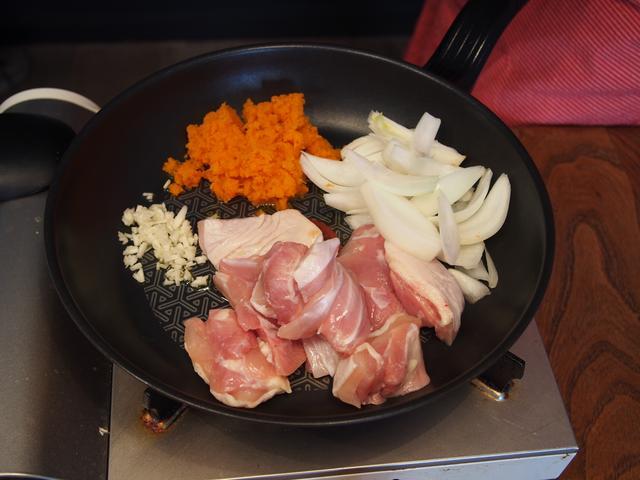 画像2: 鶏肉のケチャップ炒めチーズ乗せ