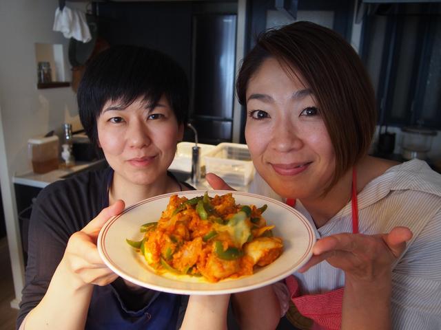 画像9: 鶏肉のケチャップ炒めチーズ乗せ