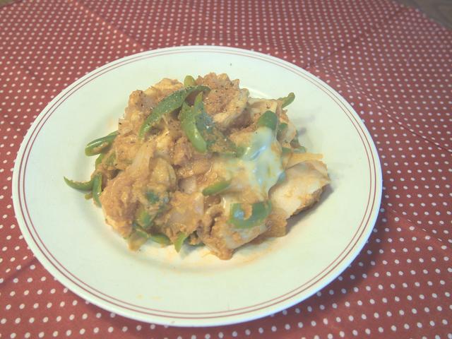 画像7: 鶏肉のケチャップ炒めチーズ乗せ