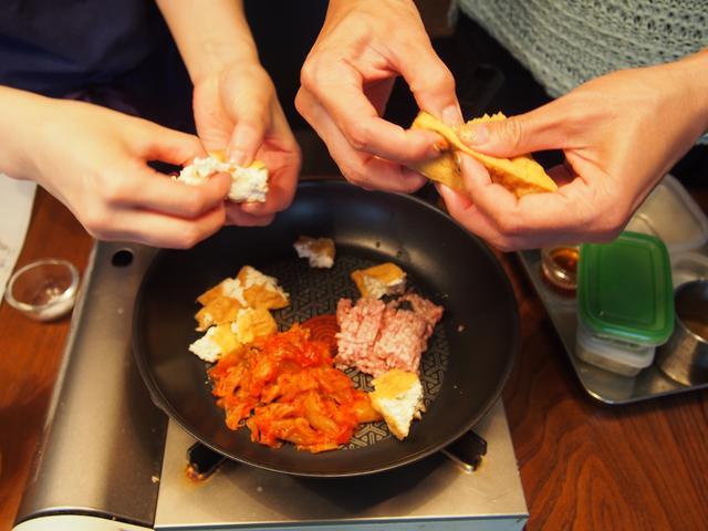 画像2: キムチのマーボー豆腐風