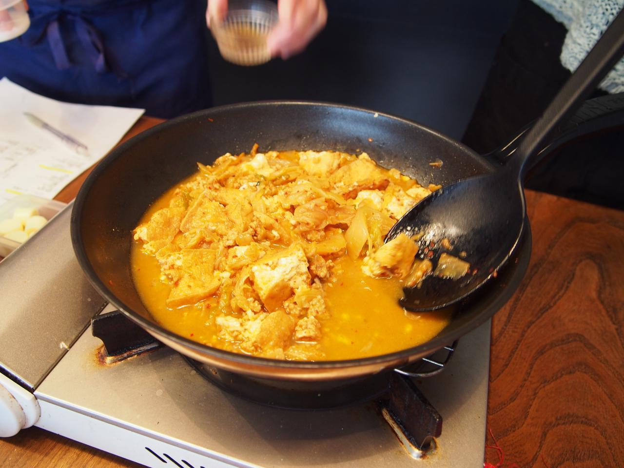 画像4: キムチのマーボー豆腐風