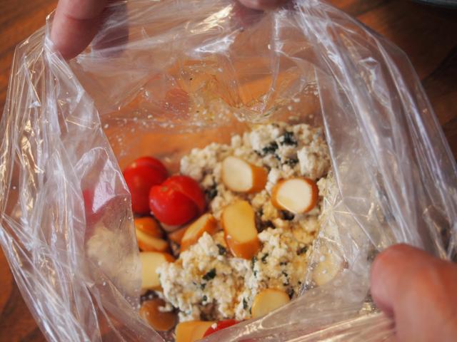 画像3: チーズとわかめの白和え