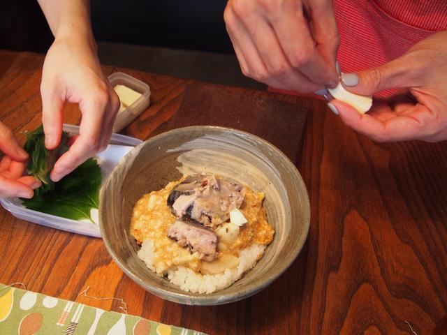 画像4: サバと長いもとチーズの丼