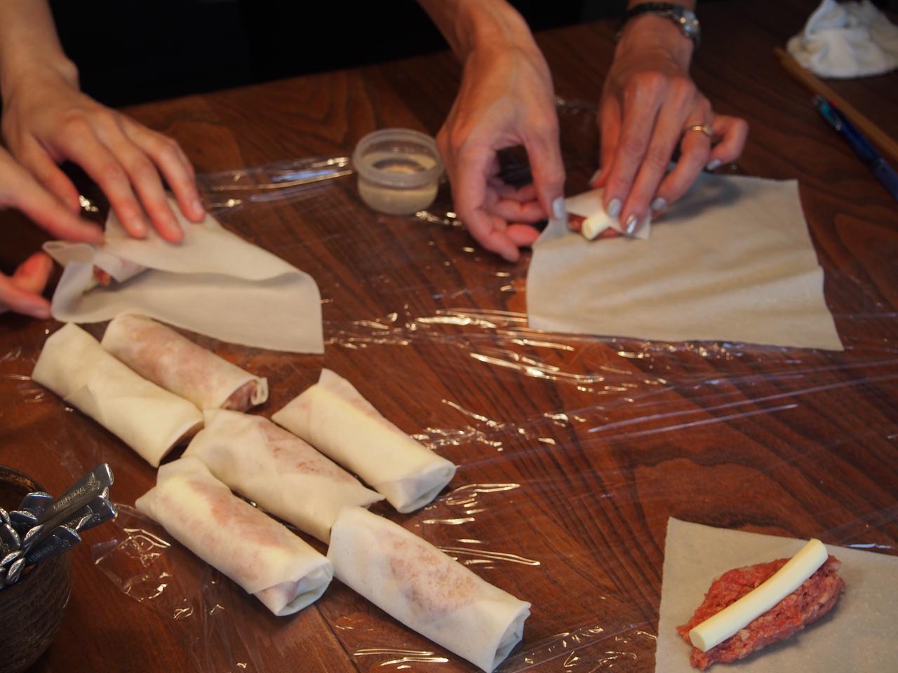 画像5: チーズ入りミートパイ風