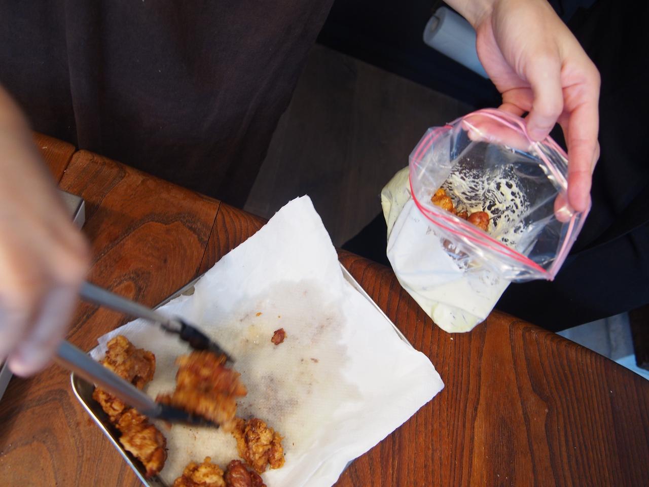 画像7: 鶏のから揚げ チーズと柚子胡椒マヨネーズ絡め