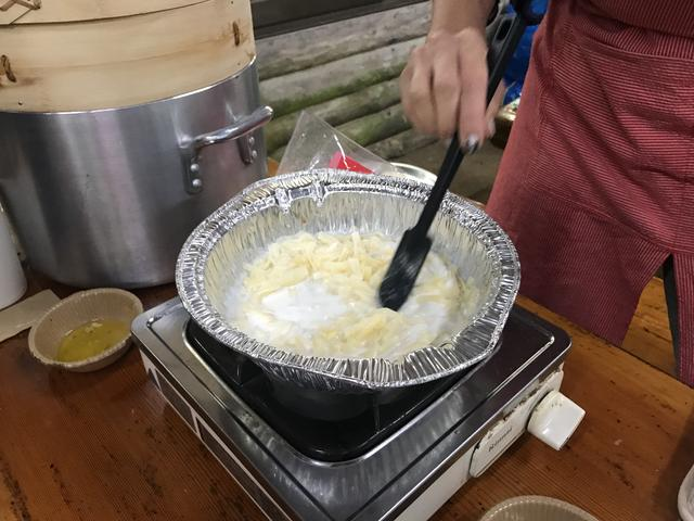 画像3: サツマイモと椎茸のチーズフォンデュ