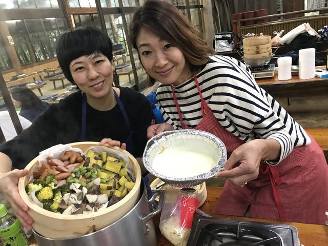 画像4: サツマイモと椎茸のチーズフォンデュ