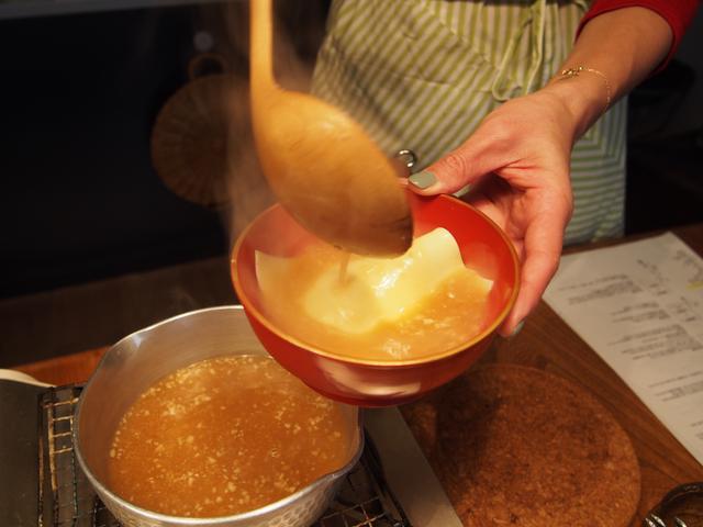 画像4: 卵とチーズの山椒味噌汁