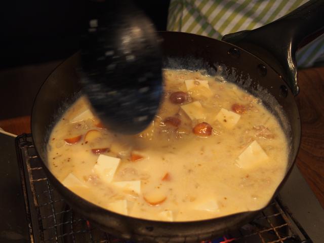 画像4: 山椒とチーズの白い麻婆豆腐