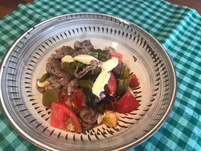 画像4: 牛肉と高菜とチーズのトマト炒め