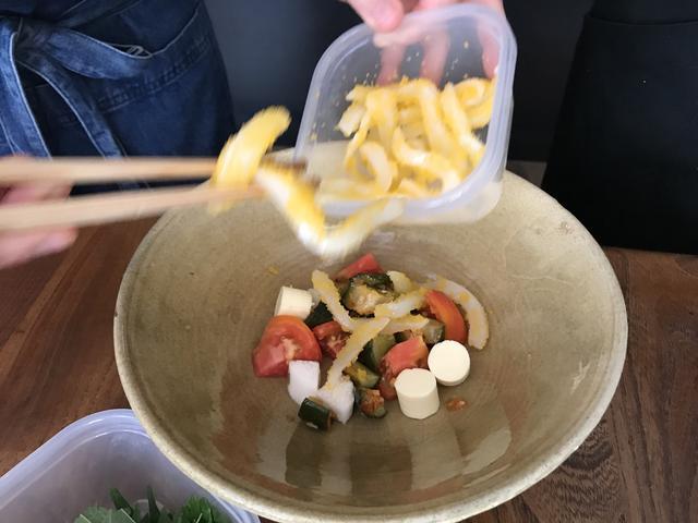 画像2: イカとキムチのチーズトスサラダ