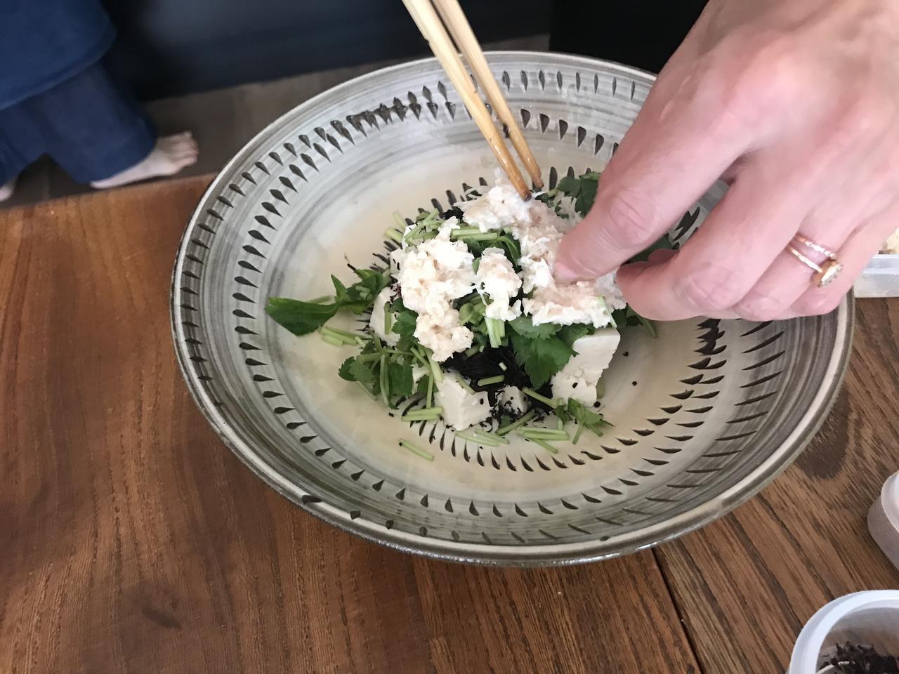 画像3: ヒジキと豆腐とチーズのトスサラダ