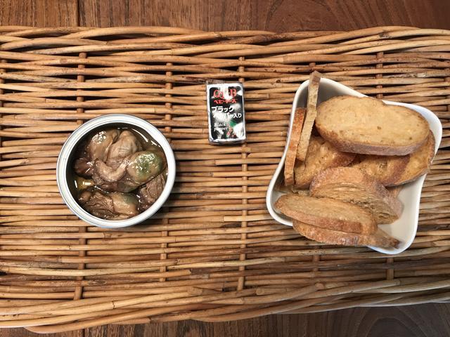 画像1: 牡蠣スモークとチーズのおつまみ