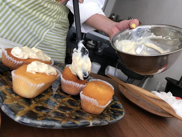 画像3: カップケーキの生姜とバニラのチーズクリームのせ