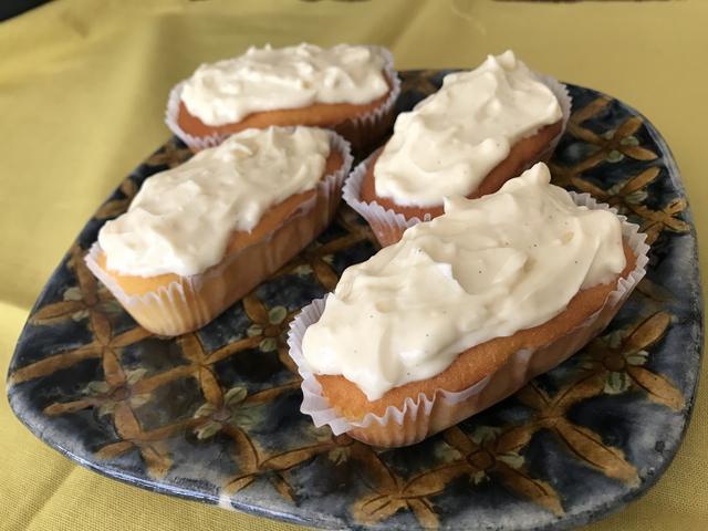 画像4: カップケーキの生姜とバニラのチーズクリームのせ