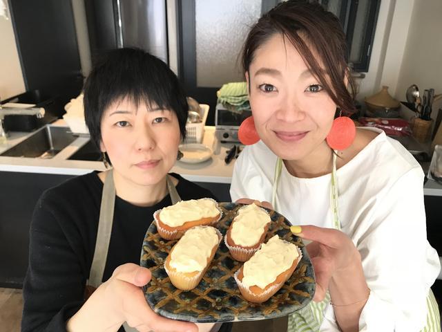 画像6: カップケーキの生姜とバニラのチーズクリームのせ