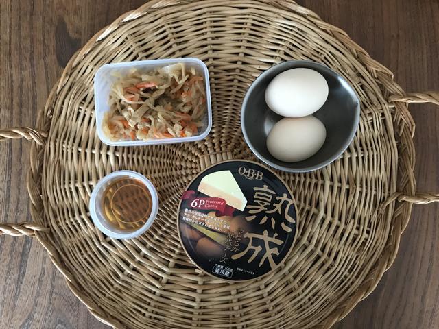画像1: 切り干し大根の煮物のチーズオムレツ