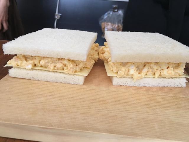 画像5: かつおぶし卵サラダとチーズのサンド