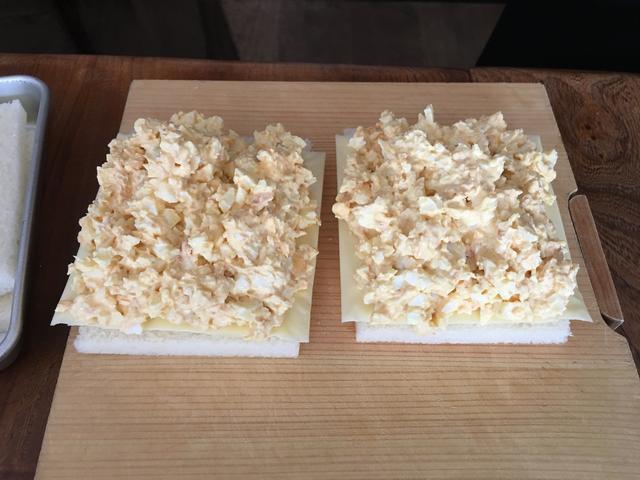 画像4: かつおぶし卵サラダとチーズのサンド