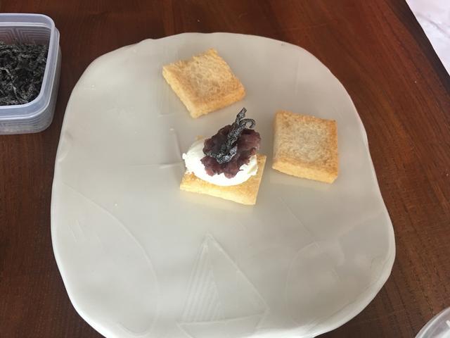 画像3: クリームチーズとあんこの塩昆布カナッペ